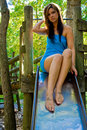 Free Tall Girl On Slide Royalty Free Stock Image - 8069376