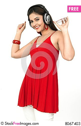 Free Woman Enjoying Music Stock Photos - 8067403