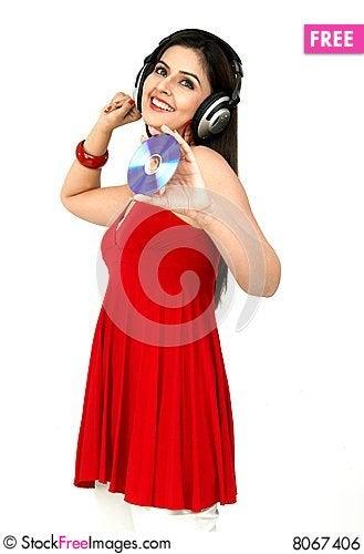 Free Woman Enjoying Music Royalty Free Stock Image - 8067406