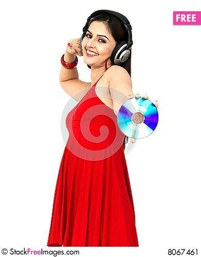 Free Woman Enjoying Music Stock Image - 8067461