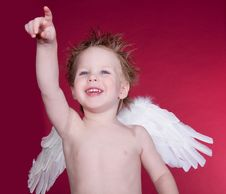 Free Angel Pointing Stock Photo - 8060060