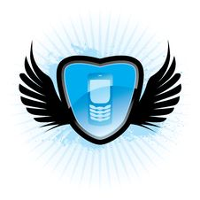 Free Cellphone Emblem Royalty Free Stock Photo - 8060755