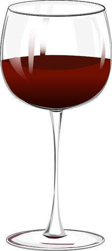 Free Wineglass With Red Wine Stock Photo - 8060820