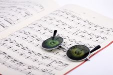 Glasses With Music Stock Photos