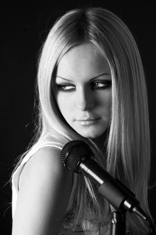 Free Rock-n-roll With The Beautiful Blonde Stock Photos - 8061503