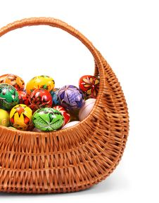 Free Easter Eggs In Basket Stock Images - 8061684