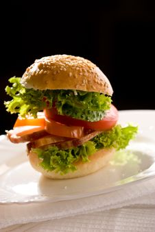 Free Corned-beef Sandwich Royalty Free Stock Image - 8063296