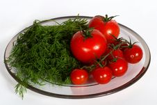 Free Tomatoes And Dill Royalty Free Stock Image - 8063436