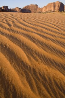 Sand Dunes Monument Valley Royalty Free Stock Images