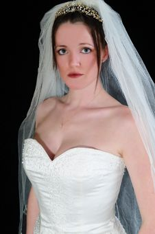 Free A Brides Stare Royalty Free Stock Photo - 8063815