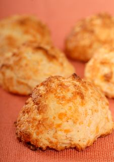 Free Cheddar Cheese Biscuits Royalty Free Stock Photography - 8063957