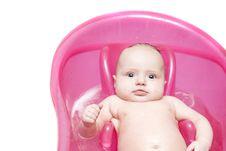 Free Baby In Bath Stock Photo - 8064390