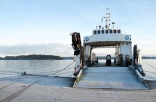 Free Small Ferryboat Moored At Quay Royalty Free Stock Photo - 8064635