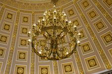 Free Chandelier In The Capitol Building Royalty Free Stock Photography - 8065247