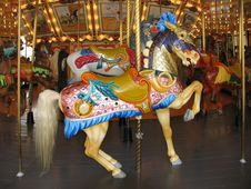 Free A Restored Old Carousel Stock Photography - 8065572