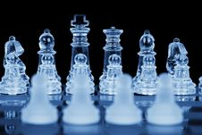 Free Four Chess Pawns, Focus On Back Royalty Free Stock Photos - 8065818