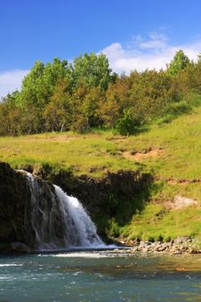 Free Waterfall In Summer Stock Photography - 8066202