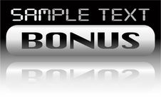 Free Vector Metal Bonus Banner Stock Photography - 8066522