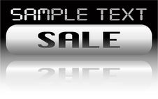 Free Vector Metal Sale Banner Royalty Free Stock Images - 8066529