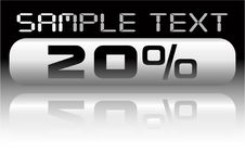 Free Vector Metal Percent Banner Royalty Free Stock Photos - 8066558