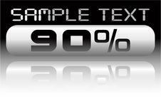 Free Vector Metal Percent Banner Royalty Free Stock Photos - 8066568