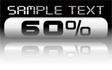 Free Vector Metal Percent Banner Royalty Free Stock Photos - 8066598