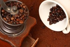 Free Coffee Grinder Royalty Free Stock Images - 8067009