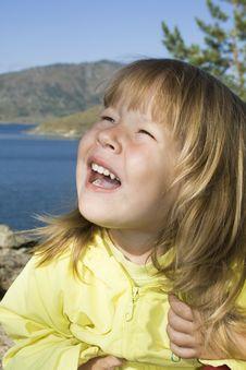 Free Cute Girl On The Beach Stock Image - 8067261