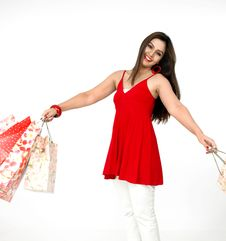 Free Beautiful Woman A Shopping Spree Royalty Free Stock Image - 8067306