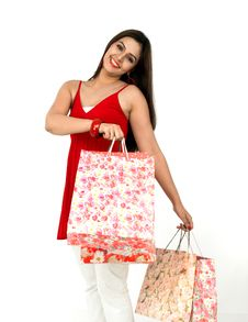 Free Beautiful Woman On A Shopping Spree Stock Photos - 8067313