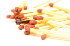 Free Burned Match Stick Royalty Free Stock Photo - 8067455