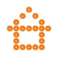 Free Orange Slince House Stock Image - 8067881