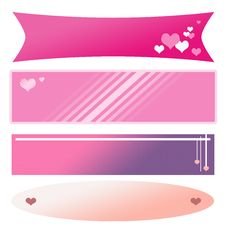 Set Of Isolated Valentine Banners Royalty Free Stock Image