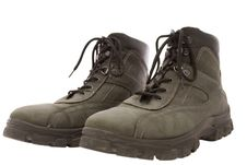 Free Pair Of Working Boots Stock Photography - 8068332
