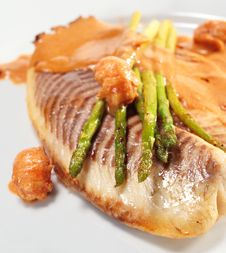 Free Sea Bass Fillet Royalty Free Stock Images - 8068469