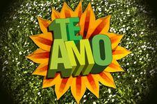 Free Te Amo Stock Photography - 8068962