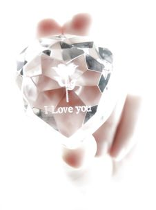 Free Women S Hand Holds Crystal Stock Photo - 8069110