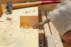 Free Work Of The Carpenter. Royalty Free Stock Photography - 8069597