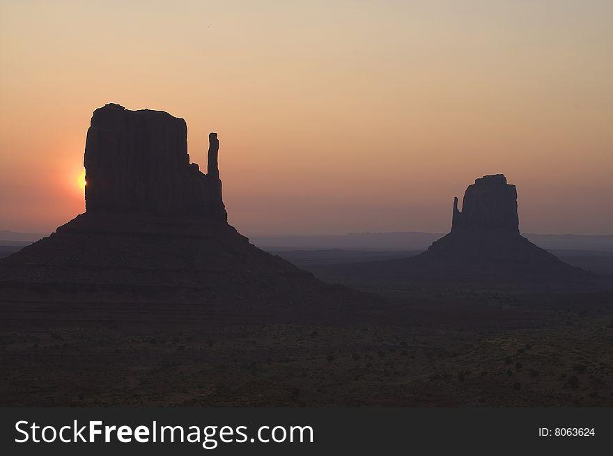 Sunrise over Monument Valley Arizona