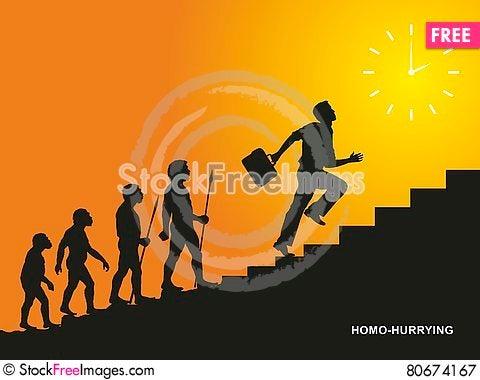 Free Homo-hurrying Royalty Free Stock Photography - 80674167