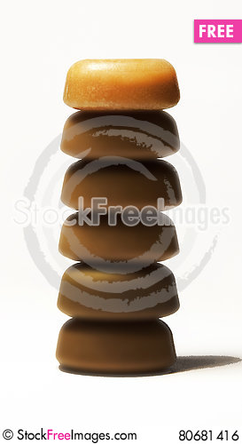 Free Candy Pieces 2 Royalty Free Stock Image - 80681416