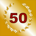 Free Gold 50th Anniversary Card Royalty Free Stock Images - 8073989