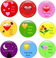 Free Love Badge Royalty Free Stock Image - 8070206