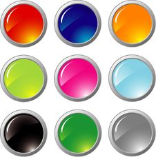 Metal Buttons Royalty Free Stock Photo