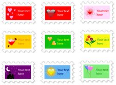 Free Valentines Day Stamp Royalty Free Stock Image - 8070316
