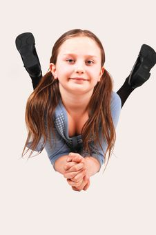 Free Little Girl Lying. Royalty Free Stock Photos - 8070368