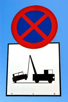 Free No Stopping Sign. Royalty Free Stock Photos - 8070908