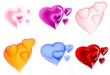 Free Beautiful Hearts Royalty Free Stock Photo - 8070935