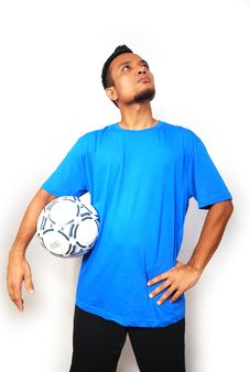 Free Football Player Royalty Free Stock Images - 8071039