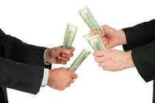 Free Businessmen With Dollars In Hands Stock Image - 8071501